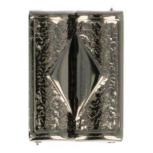 klemgesp oud-zilverkleurig metaal 40 mm voor het maken van een ceintuur