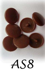 snaps bruin glanzend/A8