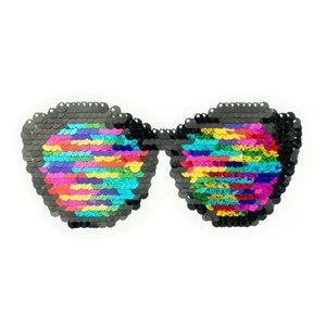 applicatie met wrijfpailletjes: zonnebril 13 x 10 cm