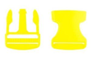 klikgesp geel kunststof 38 mm