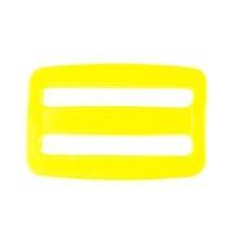 schuifgesp kunststof 38 mm geel