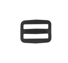 schuifgesp kunststof 25 mm zwart