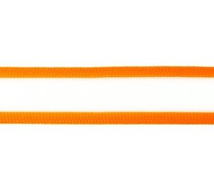 gebreid band 2,5 cm breed: wit met neonoranje