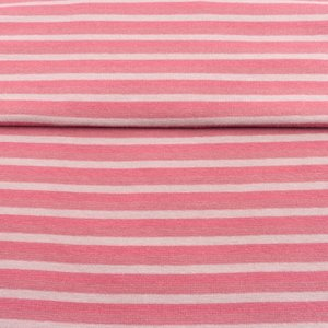 fijne boordstof gestreept: 5 mm strepen: oudroze/roze/lichtgrijs