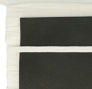 crème/gebroken wit veterband oftewel plat koord 9 mm breed, dubbeldik