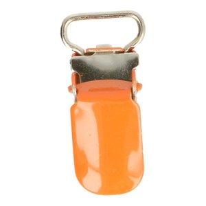kleine bretelclip, oranje, voor band 10 mm