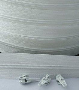 rits aan de meter, wit 4mm