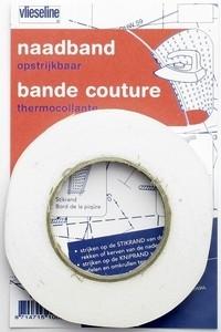 vlieseline naadband opstrijkbaar wit