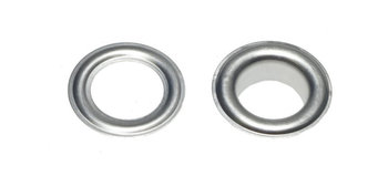 Zeilring/nestel 10 mm aluminium/ nog 1 zakje van 10 stuks