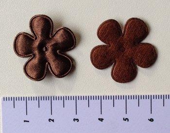 25mm bloem, chocoladebruin met randje