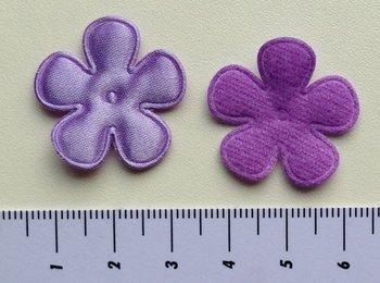 25mm bloem, paars satijn met randje