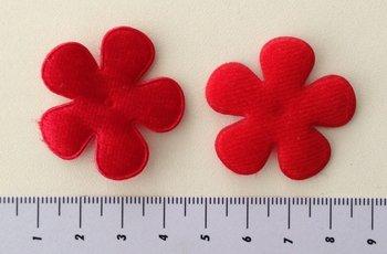 35mm bloem fluweel rood