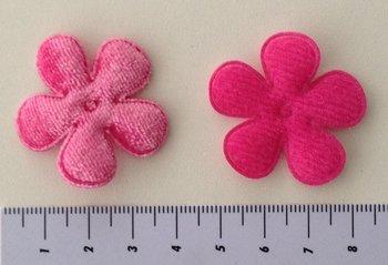 35mm bloem fluweel roze