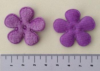 35mm bloem fluweel paars