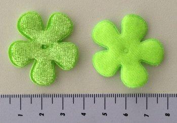35mm bloem fluweel  groen