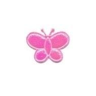 klein vlindertje glimmend roze 20 x 20 mm
