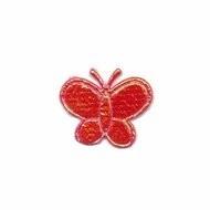 klein vlindertje glimmend rood 20 x 20 mm