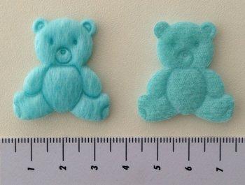 Beertje lichtblauw, 3cm bij 4,5cm