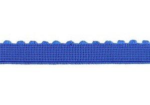 elastiek met schulprandje 12 mm breed, blauw
