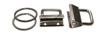 sleutelhangerklem 30 mm: éen klem met één sleutelring (los geleverd).