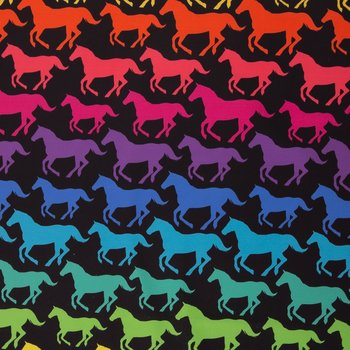 Fiete: softshell: paarden in regenboogkleuren