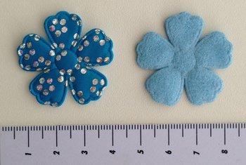 bloem 35mm turquoise met glitter stip