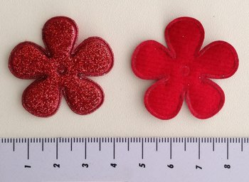 bloem 35mm rood met glitter