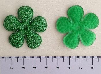 bloem 35mm groen met glitter