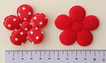 grote bloem 5cm, PVC rood met witte stip