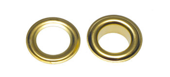 Zeilring/nestel 10 mm goudkleurig staal
