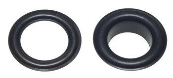 Zeilring/nestel 19 mm zwart gecoat staal