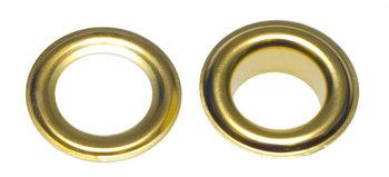 Zeilring/nestel 14 mm goudkleurig staal