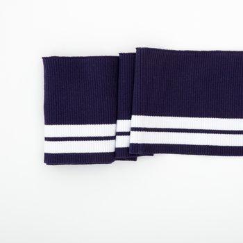 Clyde: College Cuffs donkerblauw met witte strepen