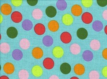 Erding: gekleurde ballen op turquoise ondergrond