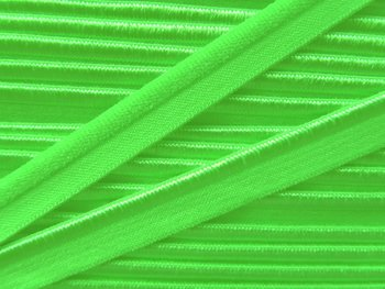 elastisch paspelband, lime / lindegroen
