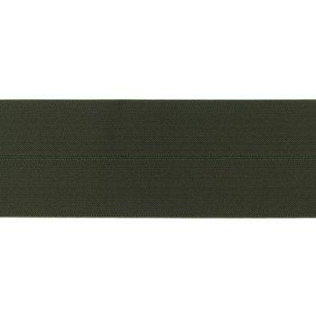 omvouwelastiek 6 cm breed, heerlijk zacht: army (legergroen)