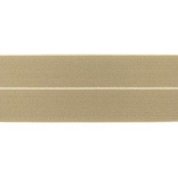 omvouwelastiek 6 cm breed, heerlijk zacht: donker zand (beige)