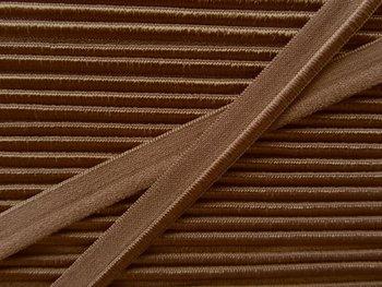 elastisch paspelband, bruin