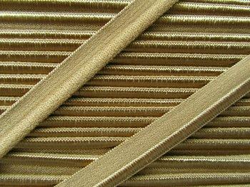 elastisch paspelband, beige