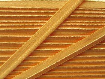 elastisch paspelband, oranje-geel