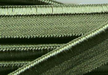 elastisch paspelband, grijsgroen