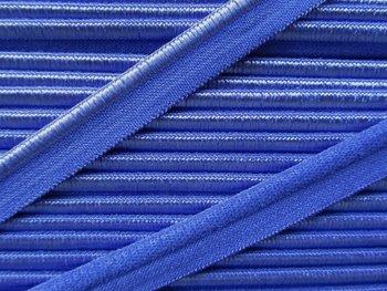 elastisch paspelband, kobaltblauw