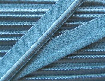 elastisch paspelband, blauw/grijs
