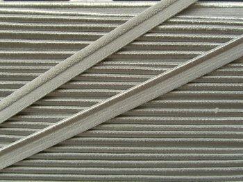 elastisch paspelband, zilvergrijs