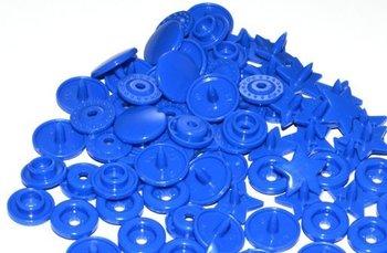 snaps blauw glanzend ster, kleur 16