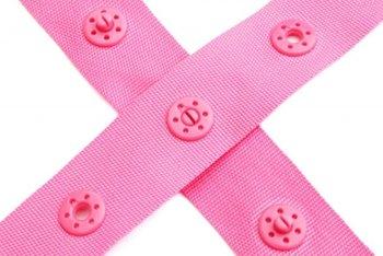 drukkertjesband roze: afstand 2,5 cm: HALVE meter