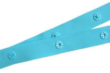 drukkertjesband turquoise: afstand 5 cm: HALVE meter