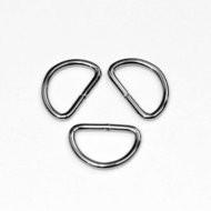 D-ring zilverkleurig metaal 25mm