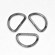 D-ring zilverkleurig metaal 30 mm