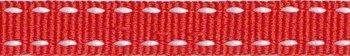 ribsband/ rood met witte rijgdraad